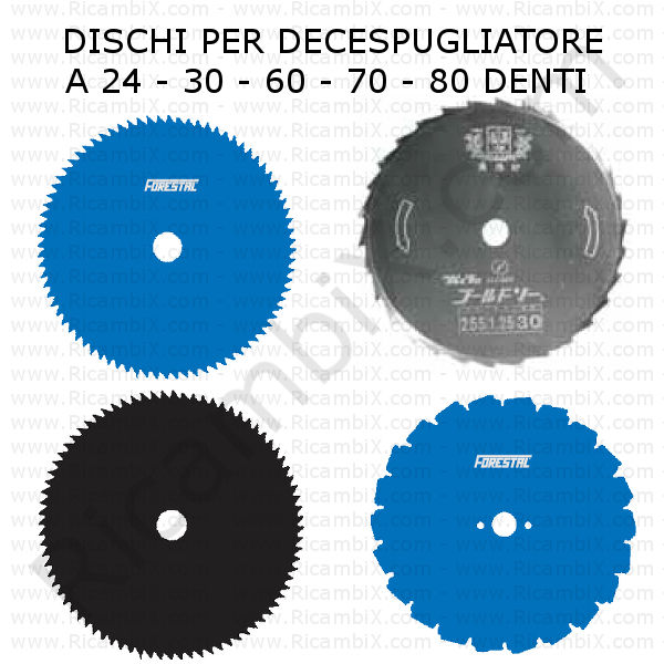 disco lama professionale decespugliatore 24 30 60 70 80 denti categoria