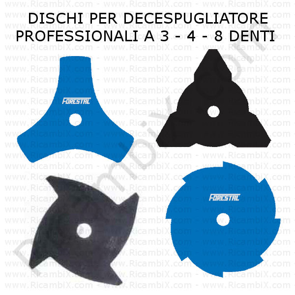 disco lama professionale decespugliatore 3 4 8 denti categoria