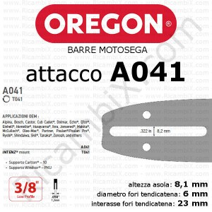 Barra motosega Oregon A041
