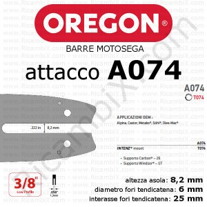 Barra motosega Oregon A074