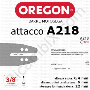 barra motosega Oregon A218