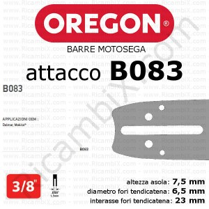 barra motosega Oregon B083 - 3/8