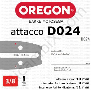 barra motosega Oregon D024 - 3/8