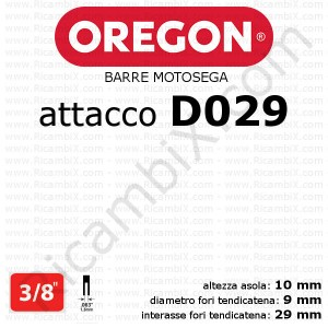 Barra motosega Oregon D029