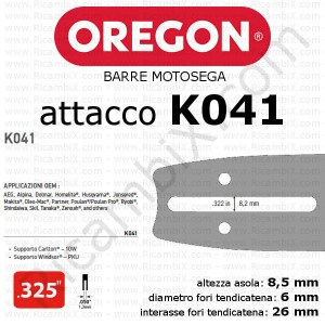 Barra motosega Oregon K041