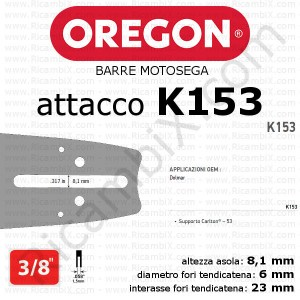 barra motosega Oregon K153 - 3/8