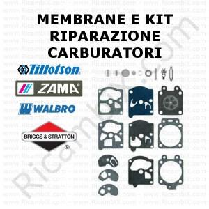 membrane e kit riparazione carburatori walbro, zama e tillotson