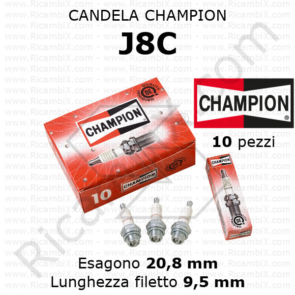 1x champion Candela di Accensione Z6