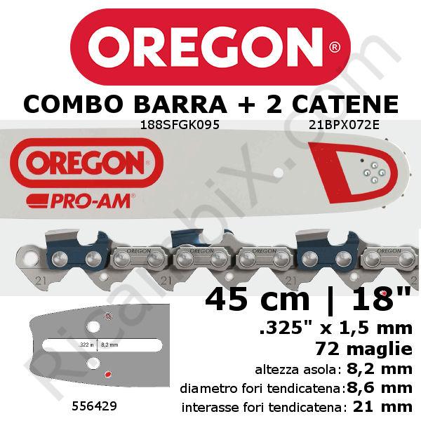 "20/"" OREGON BARRA E CATENA ADATTA HUSQVARNA 136 42 51 55 345 346 550 560 motosega ecc."