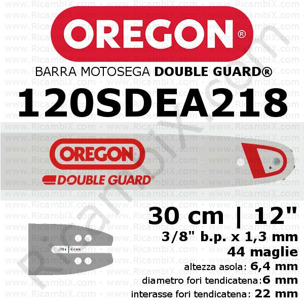 Barra motosega Oregon Double Guard 120SDEA218 - 30 cm - 12 pollici