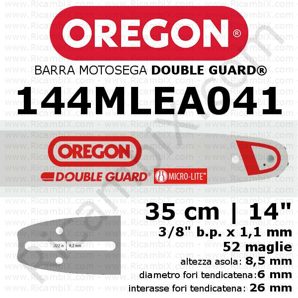 Barra motosega Oregon Double Guard Micro-Lite 144MLEA041 - 35 cm - 14 pollici