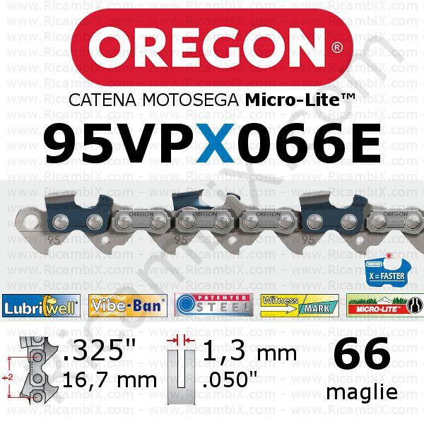 "Catena Motosega 3 // 8 /""  x 40 Maglie Spessore 1,3 mm 050 /"" 91 OREGON"