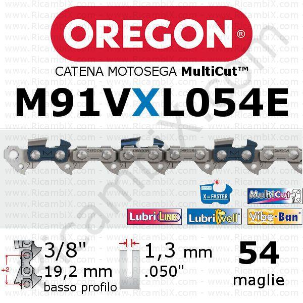 "1,5 mm 0.058/"" varie lunghezze maglie Husqvarna H54 Catena motosega passo 3//8/"""