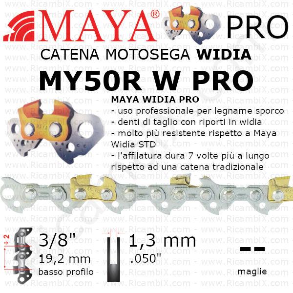 Catena motosega Widia MAYA® PRO MY50R W PRO | 3/8 di pollice x 1,3 mm | basso profilo | su misura | Widia