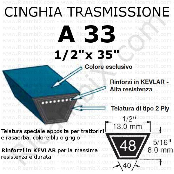 Cinghia MOTORE - CAMBIO trattorino CASTELGARDEN - Rider F 72 meccanico
