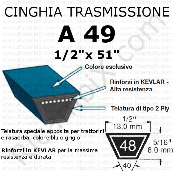 Cinghia MOTORE - CAMBIO trattorino CASTELGARDEN - Rider F 72 idrostatico