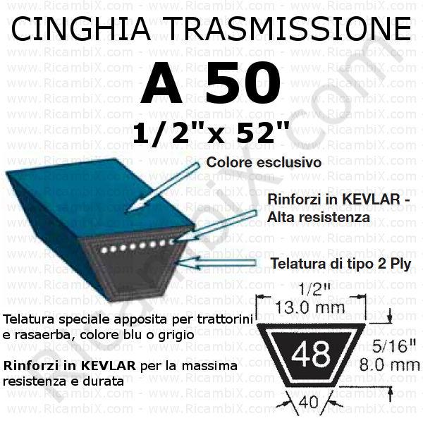 Cinghia MOTORE - PIATTO trattorino CASTELGARDEN - TR 8-10-11-12 hp - 67 cm di taglio