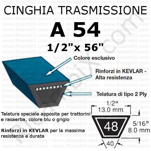 Cinghia MOTORE - IDROSTATICO trattorino CASTELGARDEN - Twin Cut 102 - idrostatico
