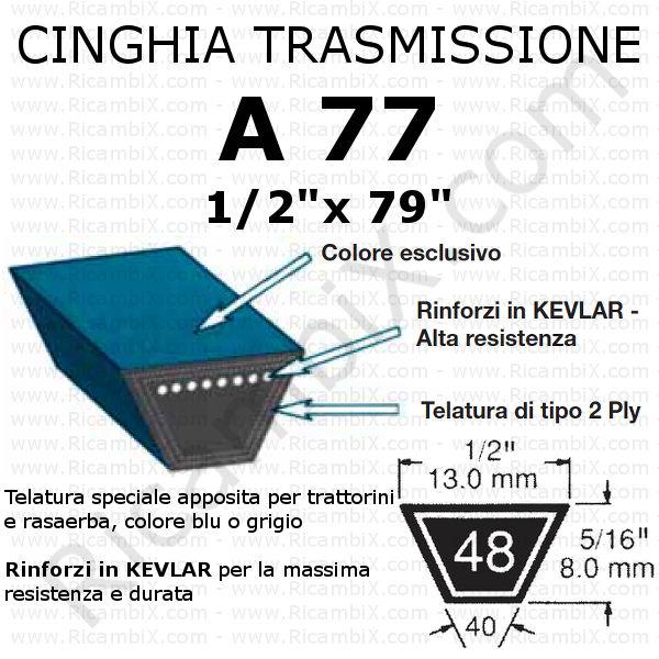 Cinghia MOTORE - PIATTO trattorino CASTELGARDEN - 98s - 98 cm di taglio