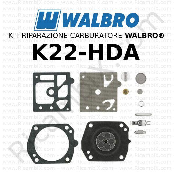 C/·T/·S Kit di Riparazione e ricostruzione del carburatore Walbro K22-HDA per carburatori HDA