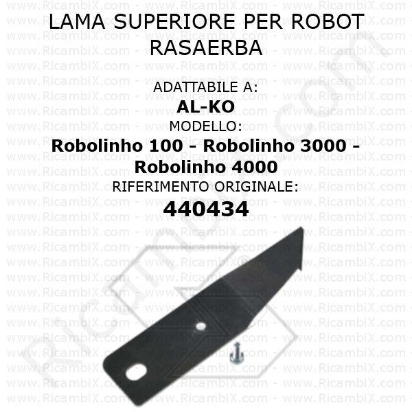 Lama superiore per robot rasaerba AL-KO Robolinho 100 - Robolinho 3000 - Robolinho 4000 - rif. orig. 440434