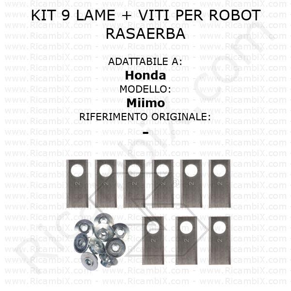 Kit 9 lame + viti per robot rasaerba Honda Miimo - rif. orig. -