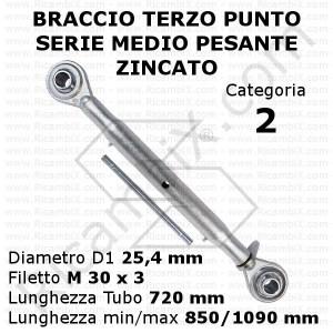 braccio terzo punto trattore 2 categoria