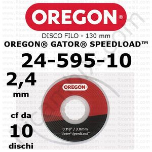 disco filo 2,4 mm per testina Oregon Gator SpeedLoad - testina grande - 130 mm