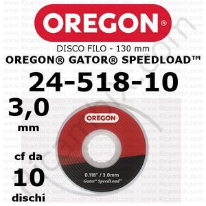 disco filo 3,0 mm per testina Oregon Gator SpeedLoad - testina grande - 130 mm