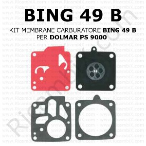 Kit membrane carburatore BING 49 B | per DOLMAR PS 9000