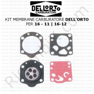 Kit membrane carburatore DELL'ORTO® | per 16-11 - 16-12