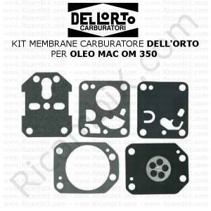 Kit membrane carburatore DELL'ORTO® | per OLEO MAC OM 350