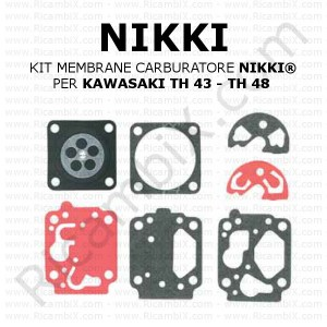 Kit membrane carburatore NIKKI® | per KAWASAKI TH 43 - TH 48