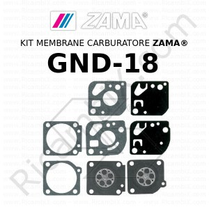 Kit membrane carburatore ZAMA® GND-18