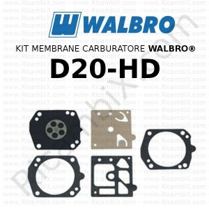 Kit membrane carburatore WALBRO® D20-HD
