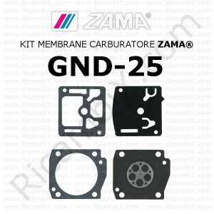 Kit membrane carburatore ZAMA® GND-25