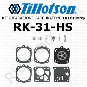 KIT RIPARAZIONE MEMBRANE CARBURATORE TILLOTSON RK34HK RK 34 HK