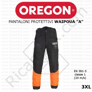 Pantaloni antitaglio Oregon Waipoua A new 295463/3XL - taglia 3XL