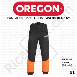 Pantaloni antitaglio Oregon Waipoua A new 295463/XL - taglia XL