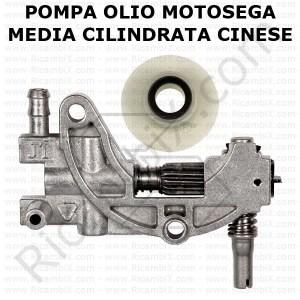 pompa olio per motoseghe di media cilindrata cinesi clone zenoah 4800 - 5200 . 5800