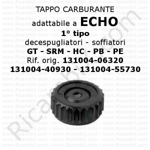 Tappo carburante Echo 1° tipo