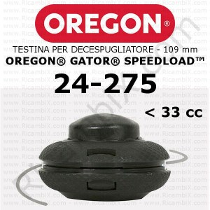 testina per decespugliatore Oregon Gator SpeedLoad - testina media - 109 mm