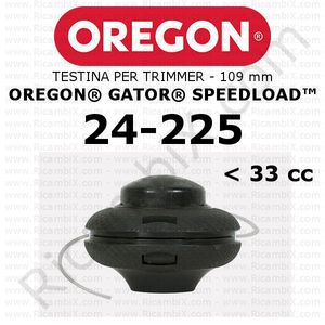 testina per trimmer - bordatore Oregon Gator SpeedLoad - testina media - 109 mm