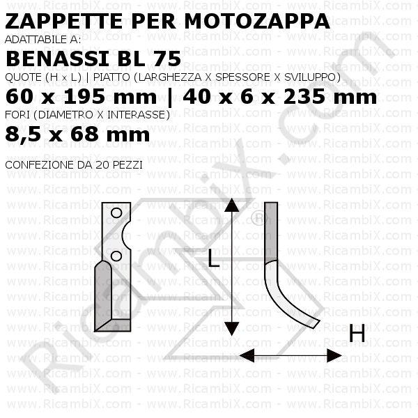Zappette Per Motozappe Benassi Zappette Per Motozappa Benassi Bl 75